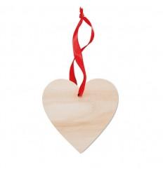 Corazón de madera para colgar publicitario Color Madera