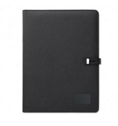Portafolio A4 con carga inalámbrica publicitario Color Negro