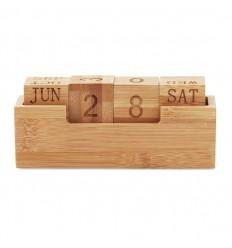 Calendario perpetuo de bambú publicitario
