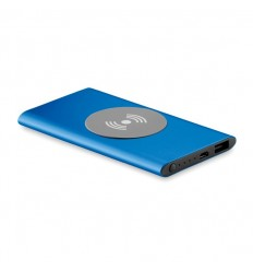 Power bank inalámbrico de aluminio publicitario Color Azul Royal