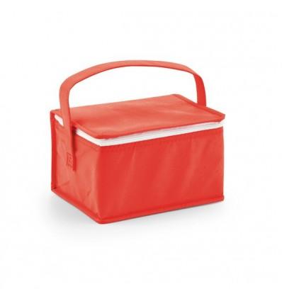Bolsa Nevera de Non-Woven para Logo de Empresa Color Rojo