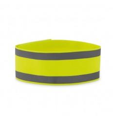 Brazalete reflectante de lycra publicitario Color Amarillo Fluorescente