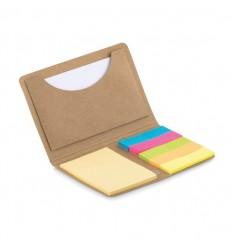Tarjetero con bloc de notas personalizado Color Beige