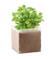 Bolsa de semillas albahaca publicitaria Color Beige
