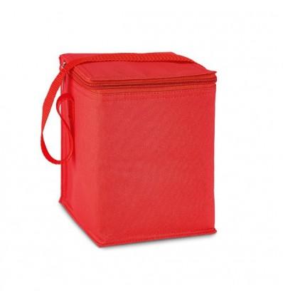 Bolsa Nevera para 4 Latas Grandes para Logo Publicitario Color Rojo