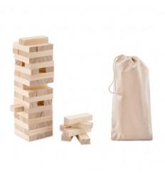 Juego torre de bloques de madera publicitario Color Madera
