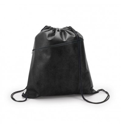 Mochila Saco Non-Woven con Bolsillo para Regalo de Empresa Color Negro