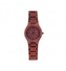 Reloj analógico de cuarzo y madera publicitario Color Marrón