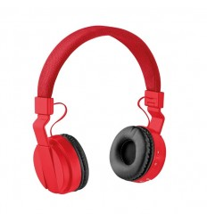 Cascos bluetooth plegables publicitarios Color Rojo
