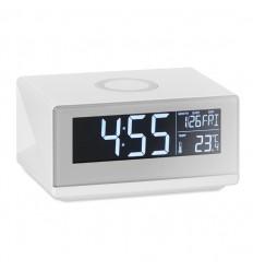 Estación despertador con carga inalámbrica publicitaria Color Blanco