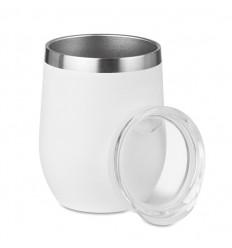 Vaso inox doble pared 350ml personalizado Color Blanco