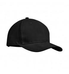 Gorra algodón grueso 6 paneles publicitaria Color Negro