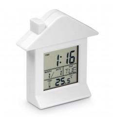 Reloj de plástico con forma de casa personalizado Color Blanco