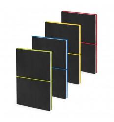 Cuaderno A5 con páginas pautadas publicitario