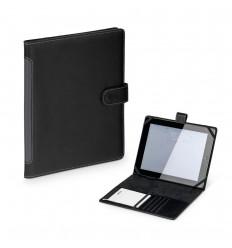 Funda de cuero sintético con libreta para tablet publicitaria
