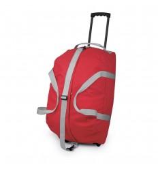 Trolley de poliéster rígido con asa de metal extensible barato Color Rojo