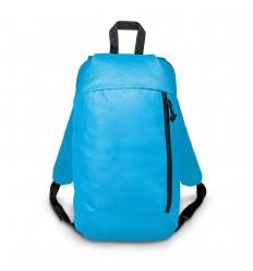 Mochila de poliéster con bolsillos merchandising Color Azul claro