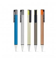 Bolígrafo aluminio con acabado metalizado publicitario