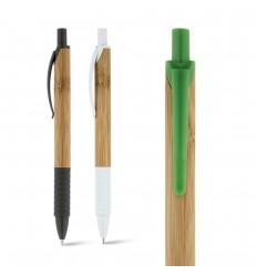 Bolígrafo de bambú con goma antideslizante publicitario