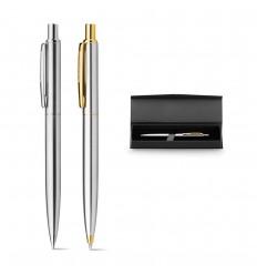 Bolígrafo de metal con estuche publicitario