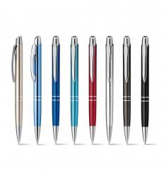 Bolígrafo de aluminio metalizado con clip publicitario
