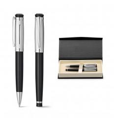 Roller y bolígrafo metálicos con caja de regalo publicitario