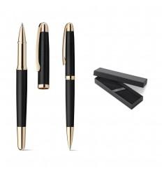 Set de bolígrafo y roller metálicos publicitario