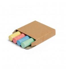 4 tizas de colores con caja personalizada Color Natural