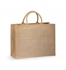 Bolsa de yute con interior laminado personalizada Color Natural