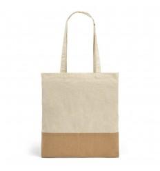Bolsa algodón con imitación de yute personalizada Color Natural