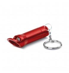 Linterna LED de metal con llavero y abridor personalizado Color Rojo