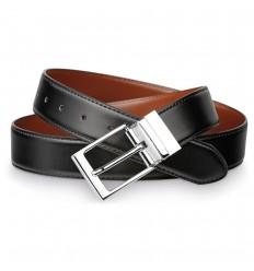 Cinturón de cuero para hombres publicitario Color Negro