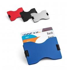 Portatarjetas RFID de aluminio con correa elástica publicitario