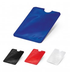 Portatarjetas de aluminio con cerradura RFID publicitario