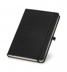 Libreta A5 con cinta elástica personalizada Color Negro