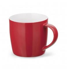 Taza cerámica de varios colores 270 ml barata Color Rojo