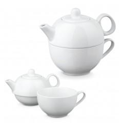 Juego de té de porcelana publicitario