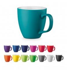Taza de porcelana de varios colores 450 ml publicitaria