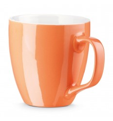 Taza de porcelana Yamas 440 ml promocional Color Naranja