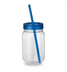 Taza con tapa y pajita 550 ml barata Color Azul royal