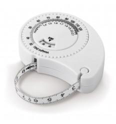 Cinta métrica para medir la masa corporal personalizada Color Blanco