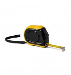 Cinta métrica 5m de plástico con freno y clip personalizada Color Amarillo