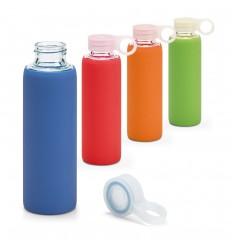 Botella de cristal con funda de silicona 380 ml publicitaria