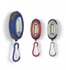 Linterna LED COB con mosquetón e imán publicitaria
