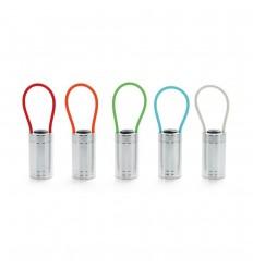 Linterna de aluminio con mango de silicona fluorescente publicitaria