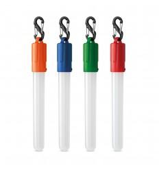 Linterna LED con forma de tubo con mosquetón publicitaria