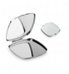 Espejo doble de metal publicitario
