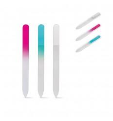 Lima de vidrio para uñas publicitaria