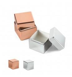 Protector labial cúbico de ABS metalizado publicitario
