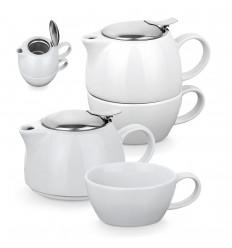 Juego de té de cerámica publicitaria